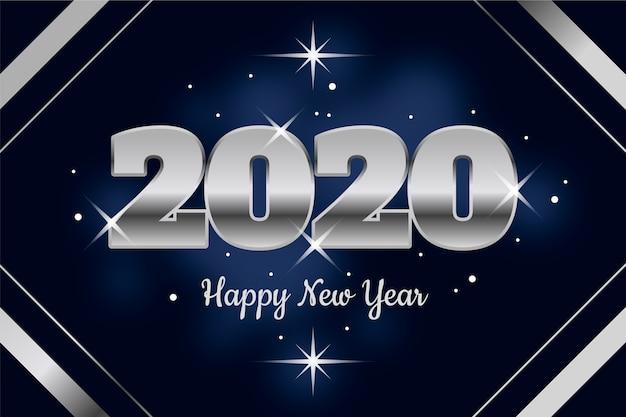 Fondo plata año nuevo vector gratuito