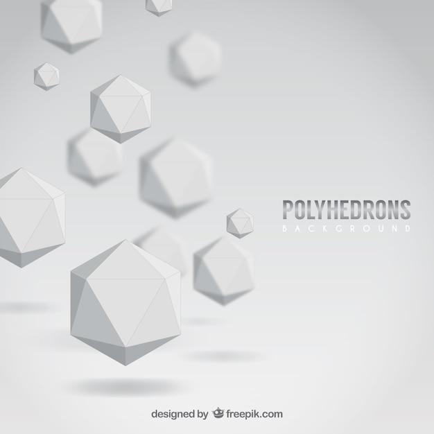 Fondo de poliedros blancos vector gratuito