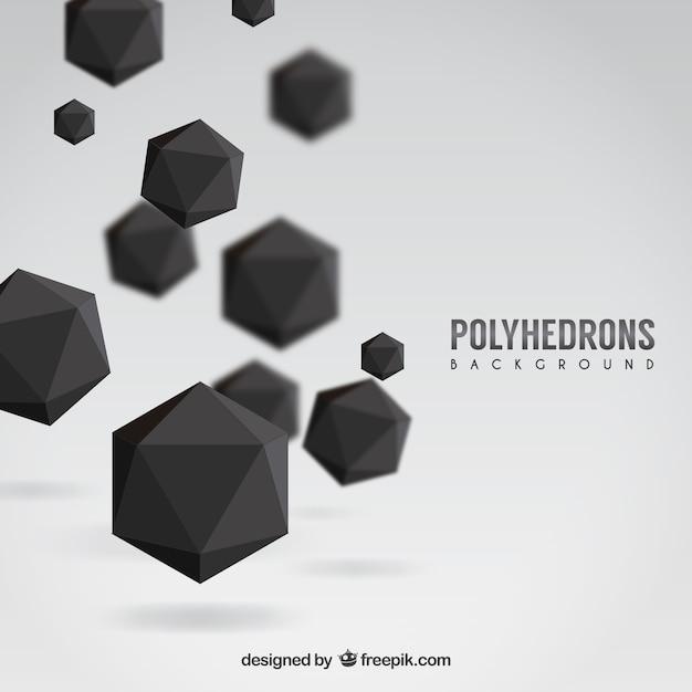 Fondo de poliedros negros vector gratuito