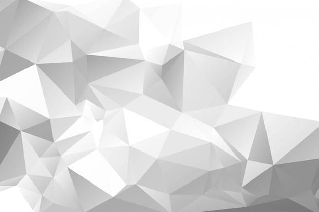 Fondo poligonal geométrico gris claro abstracto vector gratuito