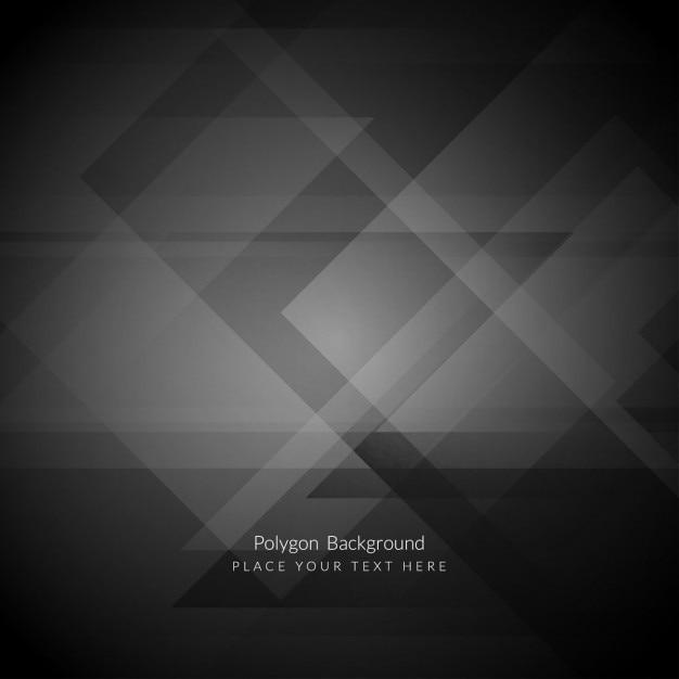 Fondo poligonal negro vector gratuito