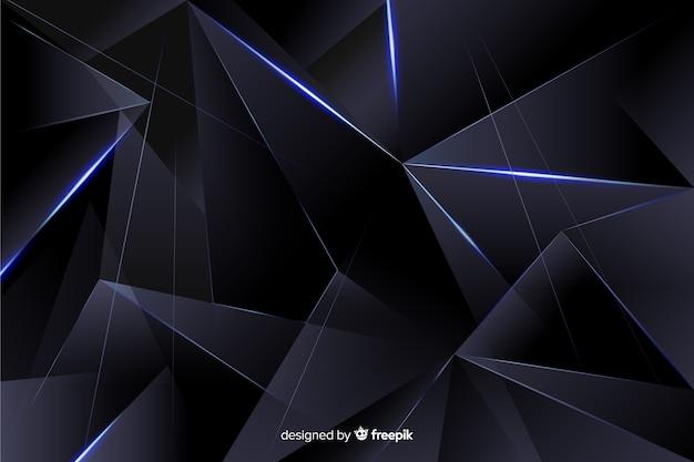 Fondo poligonal oscuro realista vector gratuito