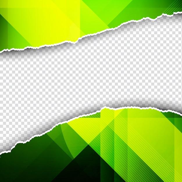 Fondo poligonal verde en estilo de papel rasgado vector gratuito