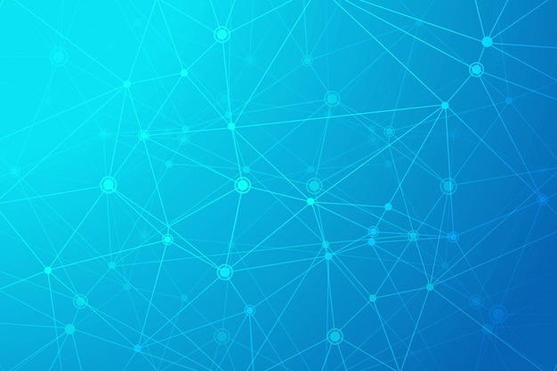 Fondo de polígono de tecnología digital vector gratuito