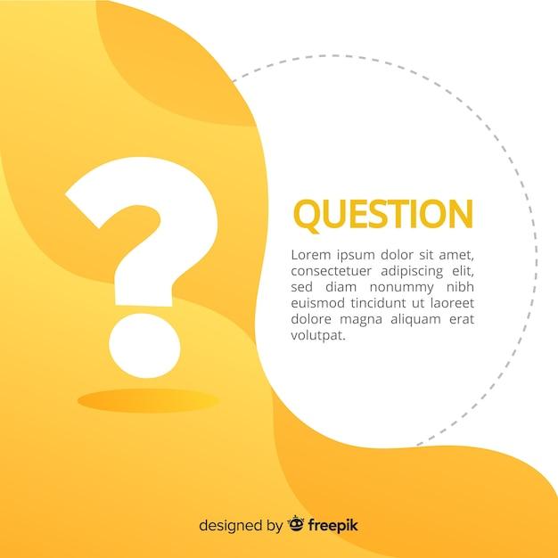 Fondo de preguntas vector gratuito