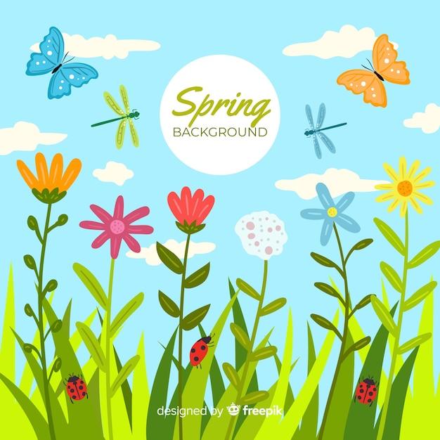 Fondo primavera en vector
