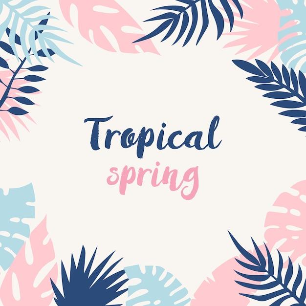 Fondo de primavera tropical vector gratuito