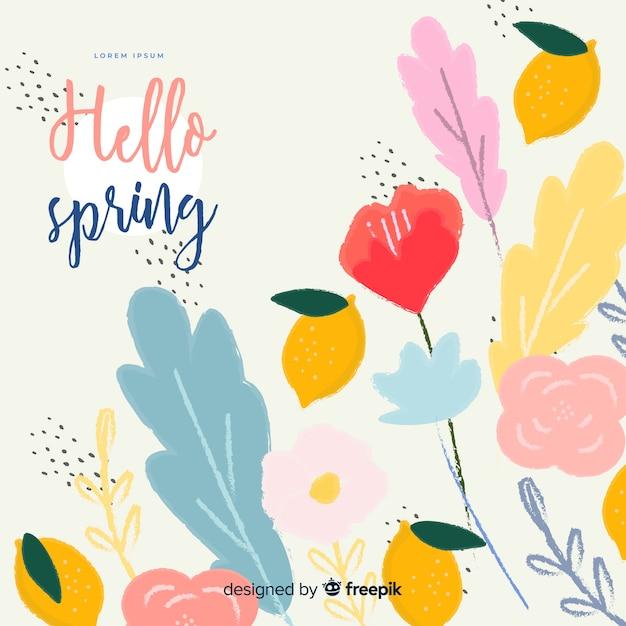 Fondo de primavera vector gratuito