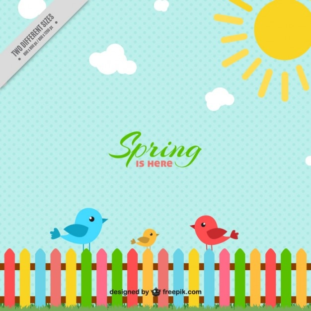 Free Spring Wallpaper with Birds