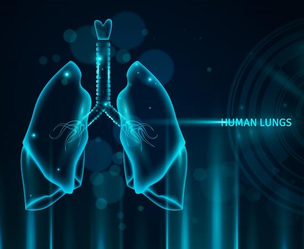 Fondo de los pulmones humanos vector gratuito
