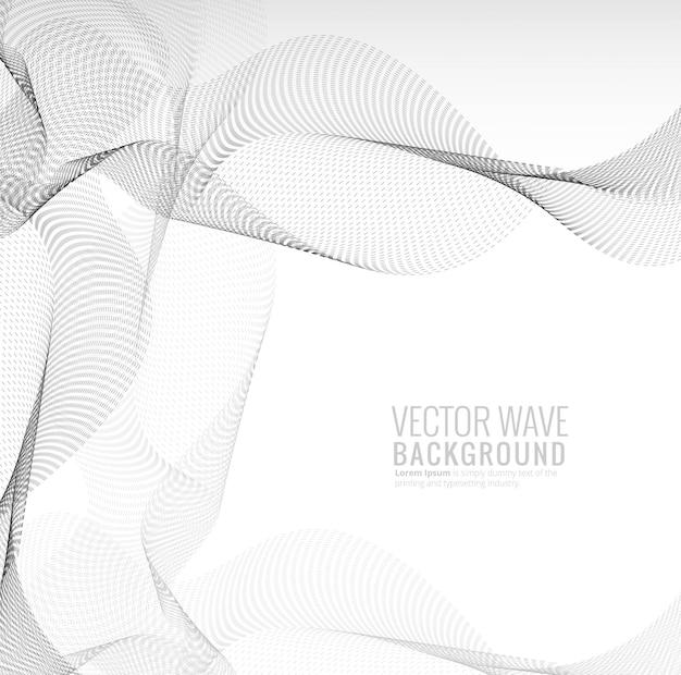 Fondo punteado elegante abstracto de la onda de la tecnología vector gratuito
