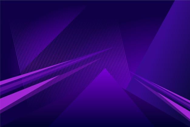 Fondo púrpura futurista abstracto con líneas brillantes Vector Premium