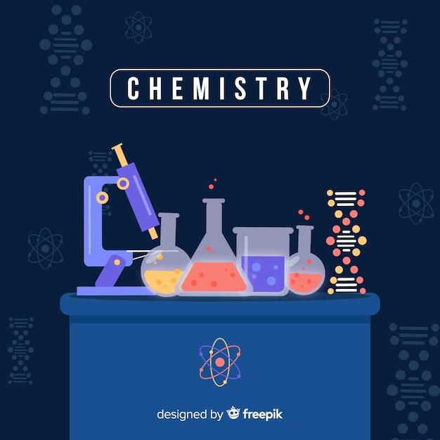 Fondo de química flat vector gratuito