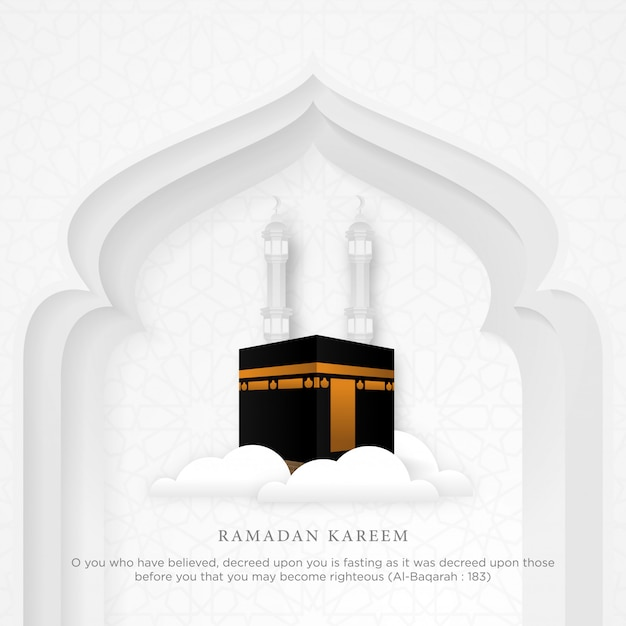Fondo de ramadán kareem islámico Vector Premium