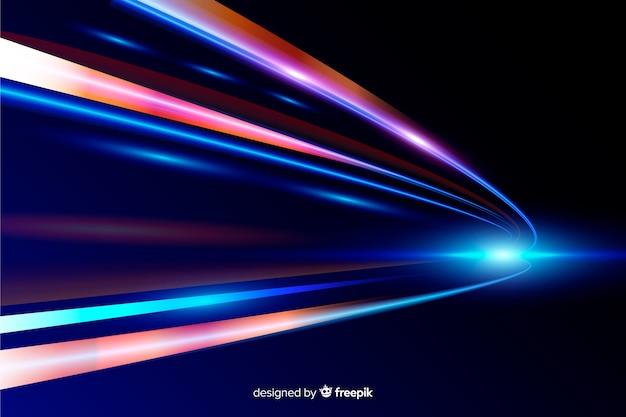 Fondo de rastro de luces de alta velocidad vector gratuito
