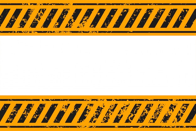 Fondo de rayas amarillas y negras de estilo de advertencia vector gratuito