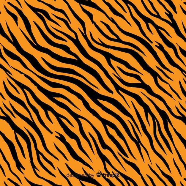 Fondo de rayas de tigre Vector Premium