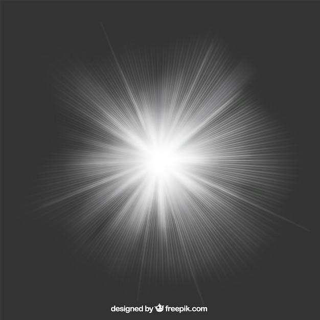 Fondo de rayos de luz Vector Premium