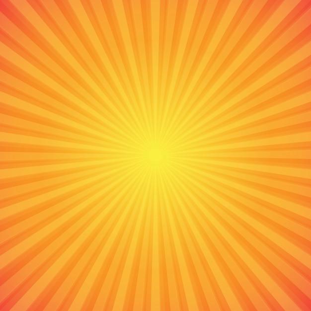 Fondo de rayos de sol naranja y amarillo brillante vector gratuito