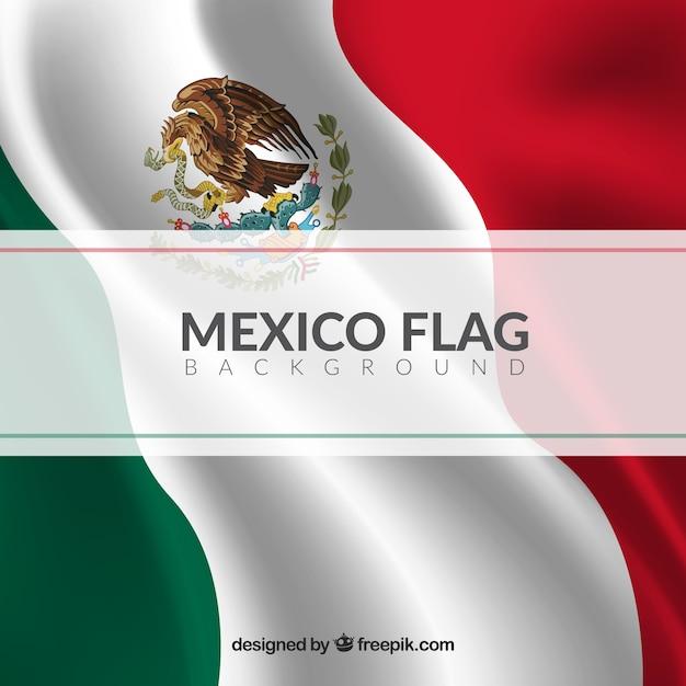 Fondo realista de la bandera mexicana | Descargar Vectores gratis