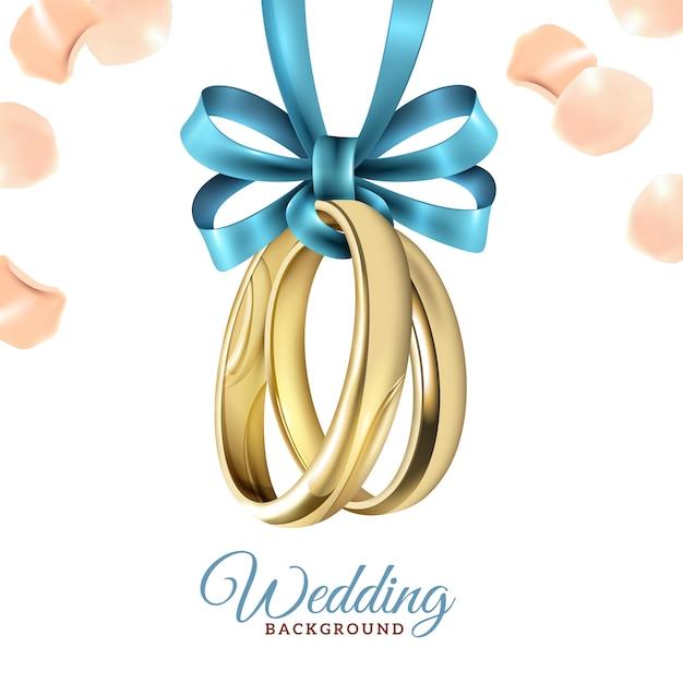 Fondo realista de la boda vector gratuito