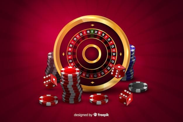 Fondo realista casino vector gratuito