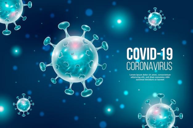Fondo realista de coronavirus vector gratuito