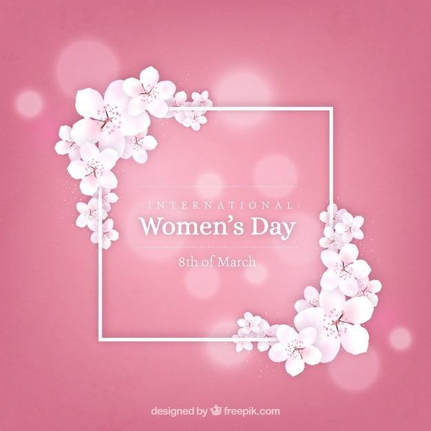 Fondo realista del día de la mujer Vector Gratis