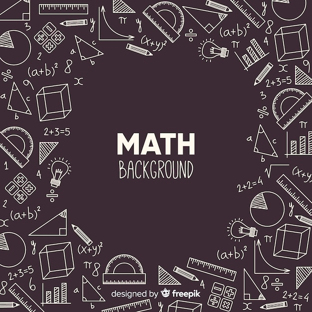 Fondo realista pizarra matemáticas vector gratuito