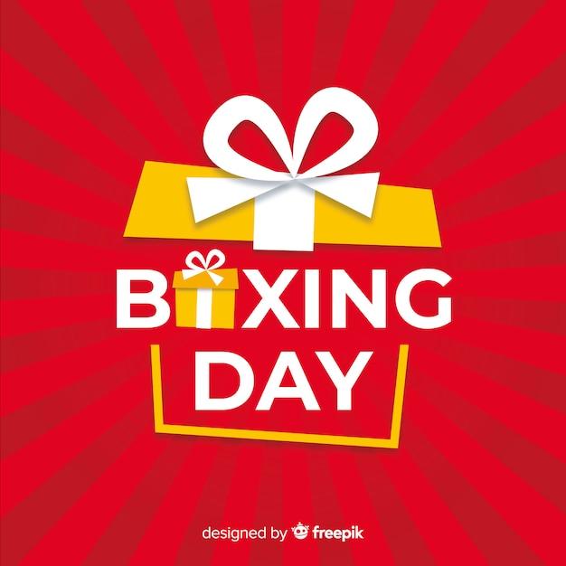 Fondo de rebajas boxing day vector gratuito