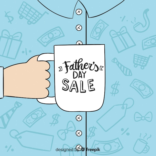 Fondo de rebajas del día del padre vector gratuito