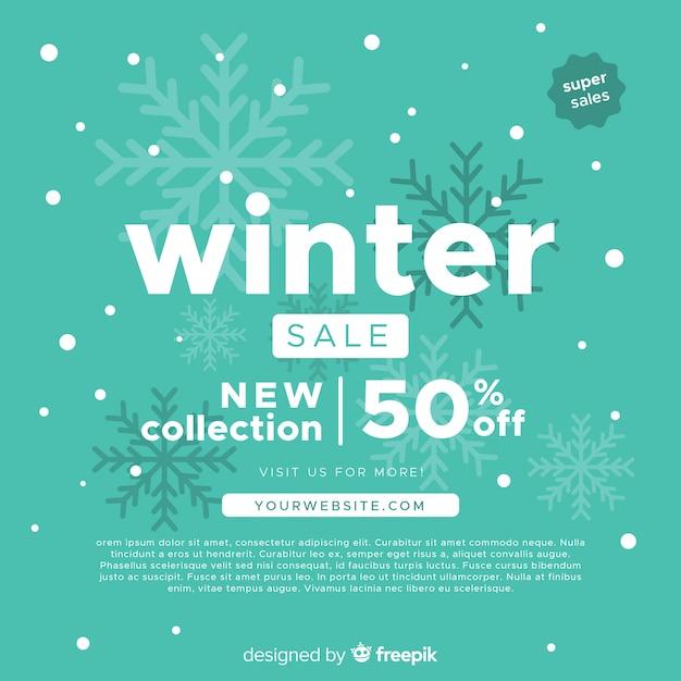 Fondo de rebajas de invierno vector gratuito