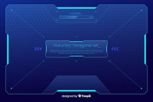 Fondo de red hexagonal futurista vector gratuito