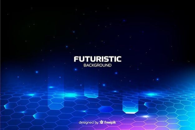 Fondo red hexagonal futurista vector gratuito