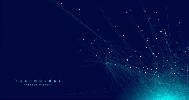 Fondo de red de malla de datos digitales de tecnología vector gratuito