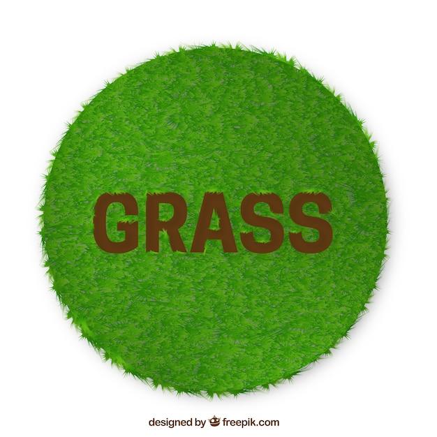 Fondo redondo de hierba verde vector gratuito