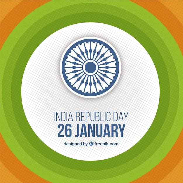 Fondo redondo para el día de la república india | Descargar Vectores ...