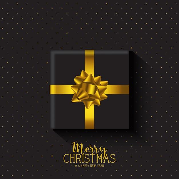 Fondo de regalo de navidad vector gratuito