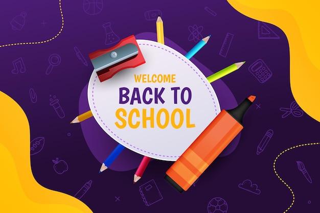 Fondo de regreso a la escuela vector gratuito