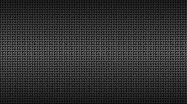 Fondo de rejilla de fibra de carbono negro oscuro moderno. Vector Premium