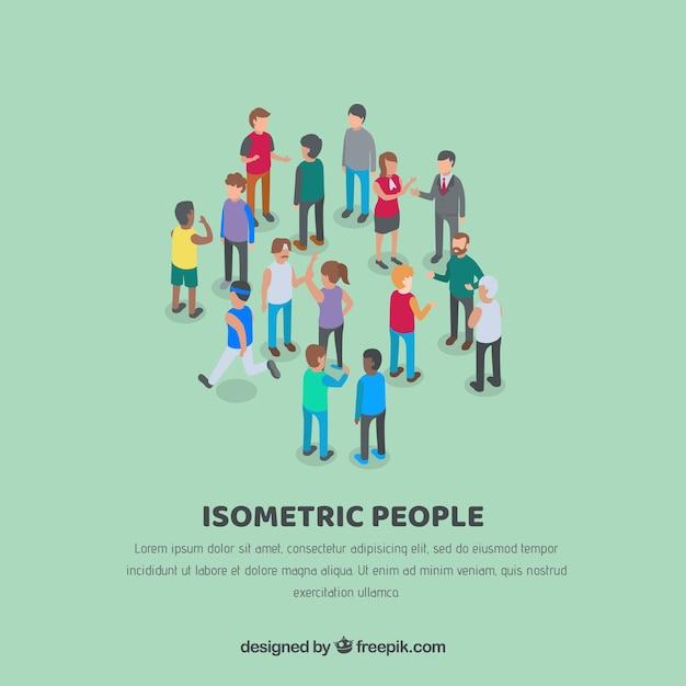 Fondo de relaciones de personas isométricas vector gratuito