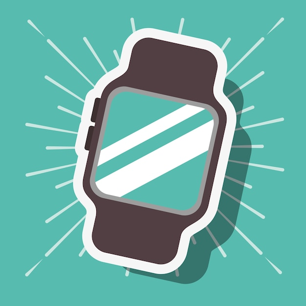 e1d4dd114149 Fondo de reloj de pulsera de tecnología de pago nfc azul