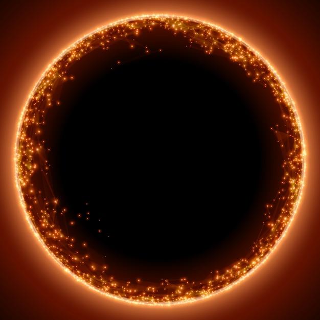 Fondo rojo abstracto de la malla. agujero negro o singularidad. estilo de tecnología futurista. vector gratuito