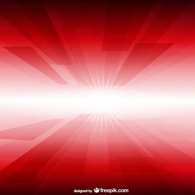 Fondo rojo y blanco con luz Vector Premium