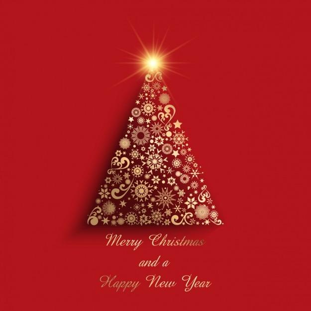 Detalles navidenos fotos y vectores gratis - Arboles de navidad dorados ...