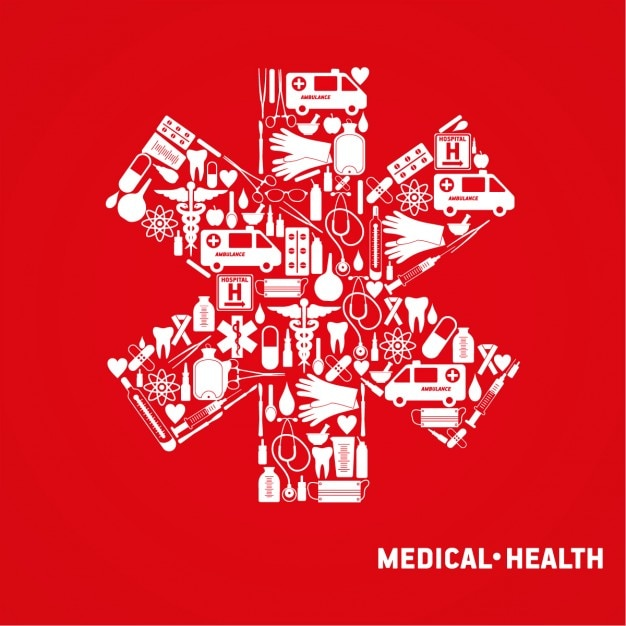 red medical background - photo #19