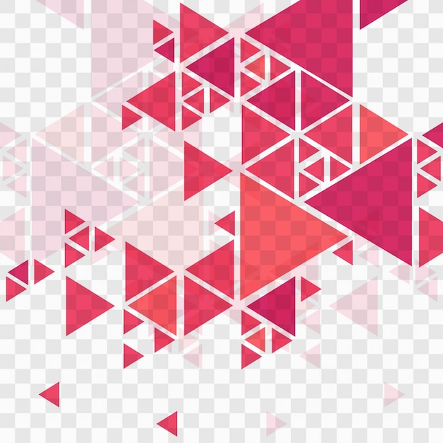 Fondo rojo geométrico moderno Vector Gratis