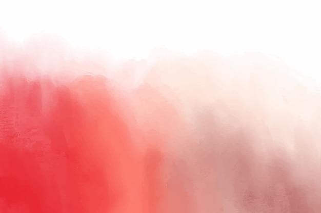 Fondo rojo manchas de acuarela vector gratuito