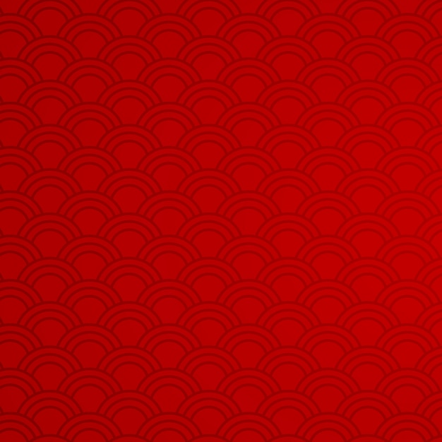 Fondo rojo con patrones abstractos vector gratuito