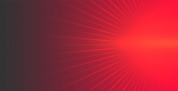 Fondo rojo con rayos brillantes saliendo vector gratuito